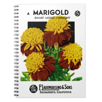 Marigold Seed Packet Label Notebook