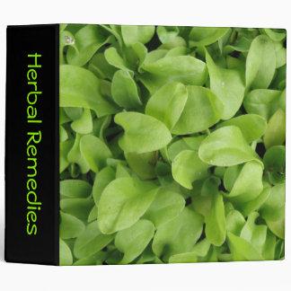 Marigold Seedlings Herbal Remedies Custom Binder