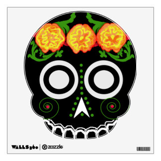 "marigold ""sugar skull"" 1 wall decal"