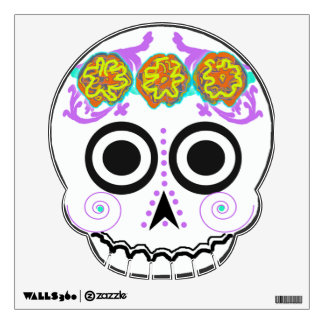 "marigold ""sugar skull"" 2 wall decal"
