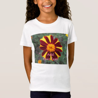 Marigold Velvet Rich Red Yellow Flower T-Shirt