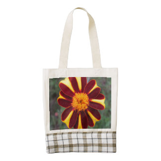 Marigold Velvet Rich Red Yellow Flower Zazzle HEART Tote Bag