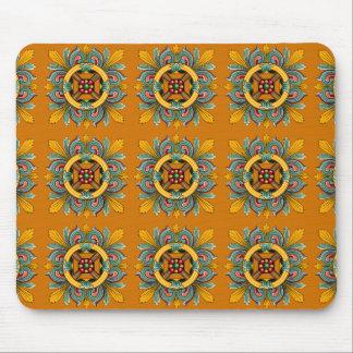 Marigold Victorian Tile Design Mouse Pad