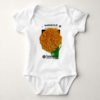 Marigold Vintage Seed Packet Baby Bodysuit
