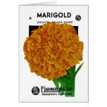 Marigold Vintage Seed Packet Card