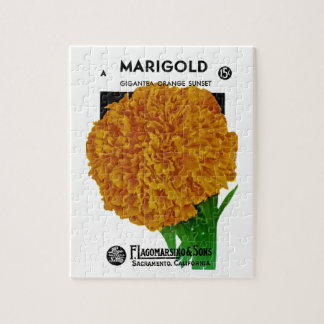 Marigold Vintage Seed Packet Jigsaw Puzzle