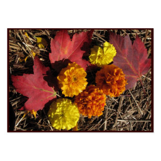 Marigolds and Maple Leaves ATC Large Business Cards (Pack Of 100)