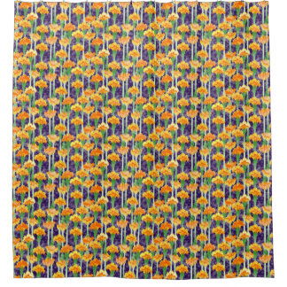 Marigolds and Moonbeams Shower Curtain