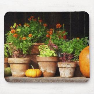 Marigolds and Pumpkins Mousepad