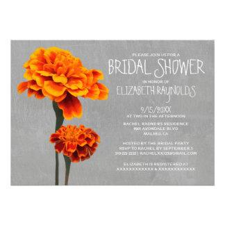 Marigolds Bridal Shower Invitations Custom Invitations