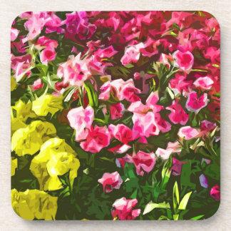 Marigolds & Dianthus Cork Coasters