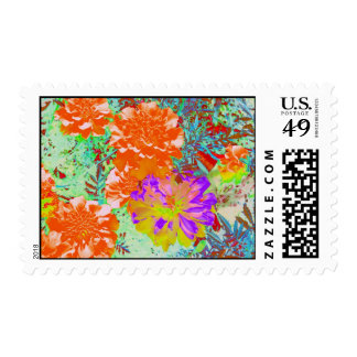 marigolds gone wild! postage