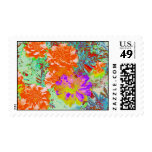 marigolds gone wild! postage stamp