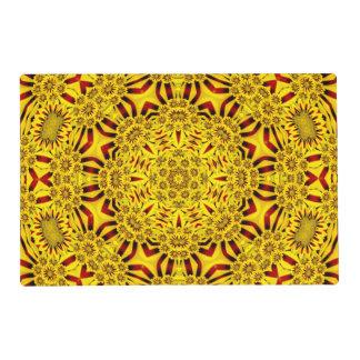 Marigolds Kaleidoscope  Colorful Placemats