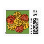 Marigolds Postage Stamps