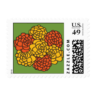 Marigolds Postage Stamps