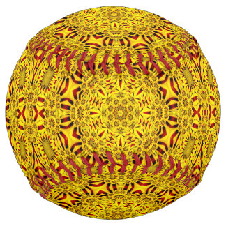 Marigolds Vintage Kaleidoscope  Softball