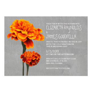Marigolds Wedding Invitations Personalized Announcement