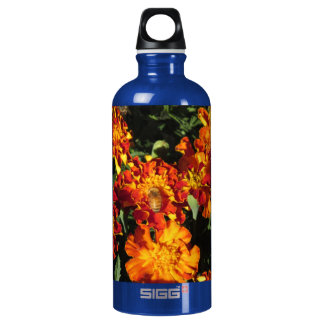 Marigolds with a Bee Bottle