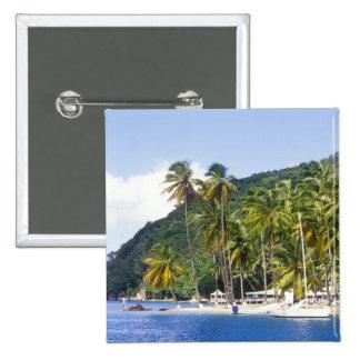 Marigot Bay, St. Lucia, Caribbean 2 Inch Square Button