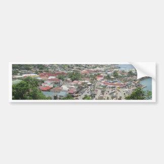Marigot Waterfront From Fort Louis Bumper Sticker