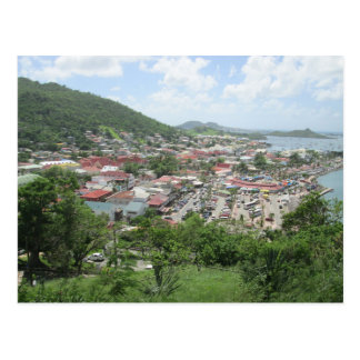 Marigot Waterfront From Fort Louis Postcard