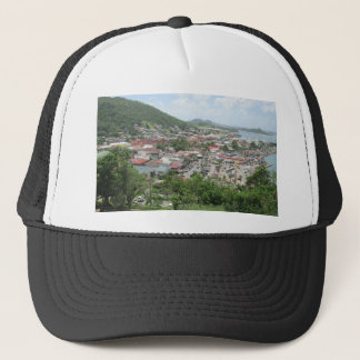 Marigot Waterfront From Fort Louis Trucker Hat