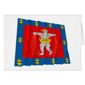 Marijampole County Waving Flag Greeting Cards