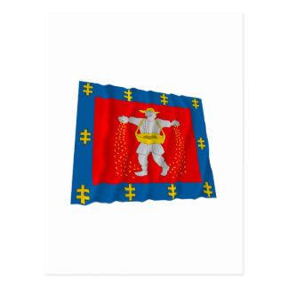 Marijampole County Waving Flag Postcard