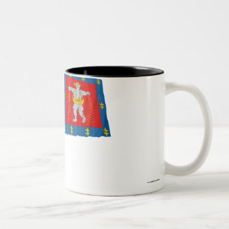 Marijampole County Waving Flag Two-Tone Coffee Mug
