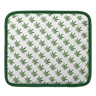 Pot Leaf Pattern iPad Sleeve