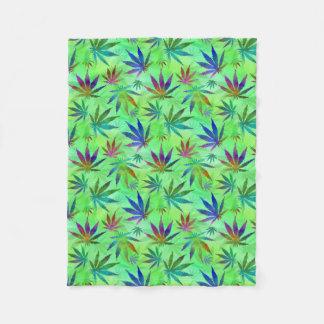 Marijuana Cannabis Leaves Pattern Fleece Blanket
