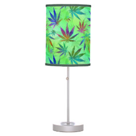 Marijuana Cannabis Leaves Pattern Lamp