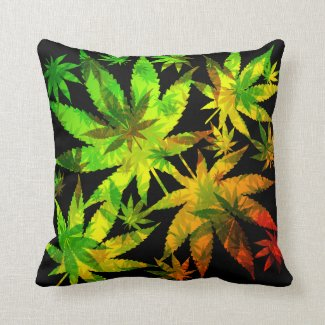 Marijuana Cannabis Leaves Pattern Pillows