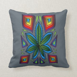Marijuana Color Spectrum Pillow