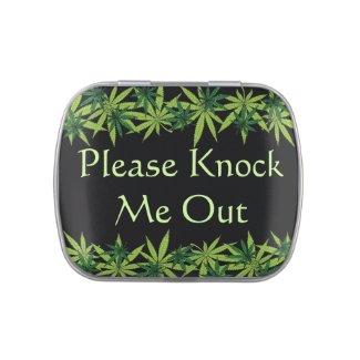 Marijuana Know Your Dose Black Candy Tin