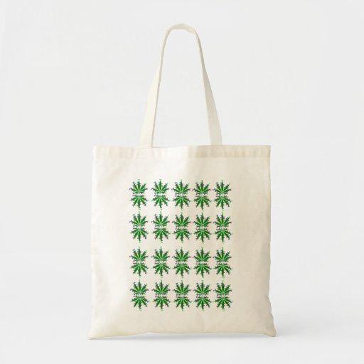 Marijuana leaf design bag