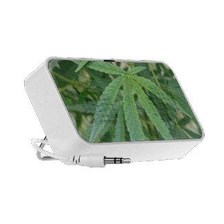 Marijuana Leaf Doodle Mini Speaker
