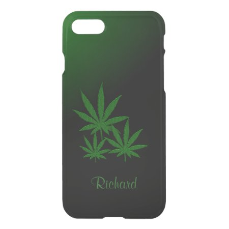 Marijuana Leaf Emerald Green iPhone 8/7 Case