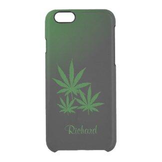 Marijuana Leaf Emerald Green Uncommon Clearly™ Deflector iPhone 6 Case