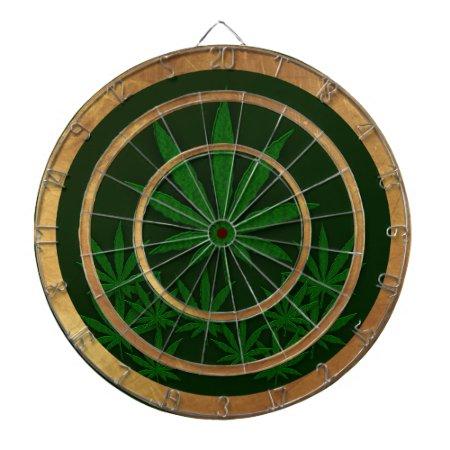 Marijuana Leaves Dart Board