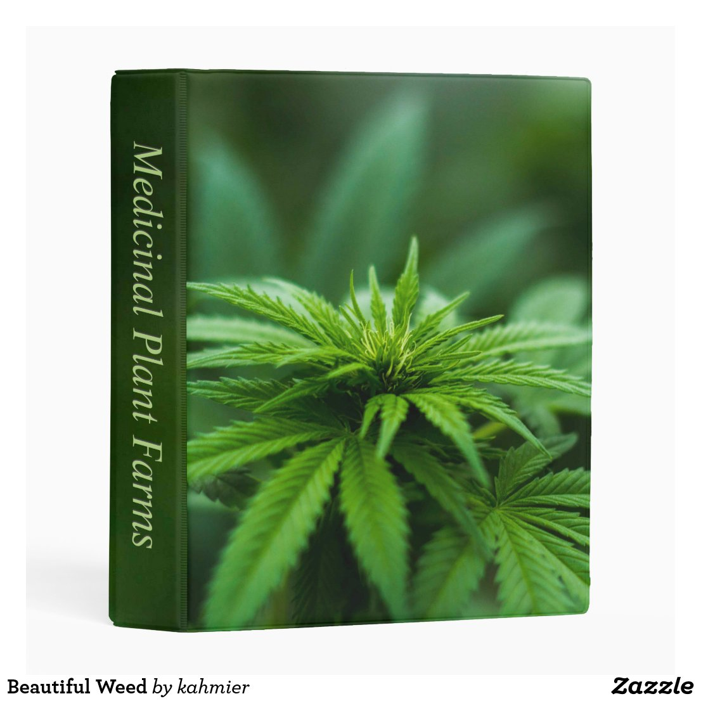 Marijuana Personalized Spine Mini Binder