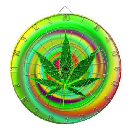 Marijuana Psychedelic Trip Dart Board