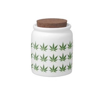 Pot Leaf Pattern Candy Jar