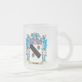 Marik Coat of Arms - Family Crest 10 Oz Frosted Glass Coffee Mug