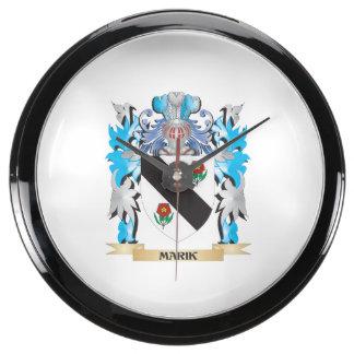 Marik Coat of Arms - Family Crest Fish Tank Clock