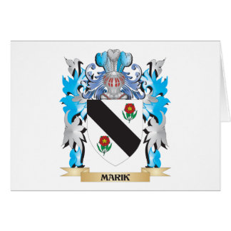 Marik Coat of Arms - Family Crest Stationery Note Card
