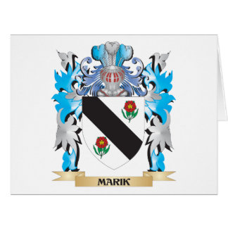 Marik Coat of Arms - Family Crest Large Greeting Card
