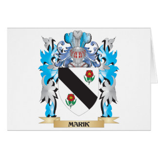 Marik Coat of Arms - Family Crest Greeting Card