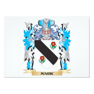 Marik Coat of Arms - Family Crest 5x7 Paper Invitation Card